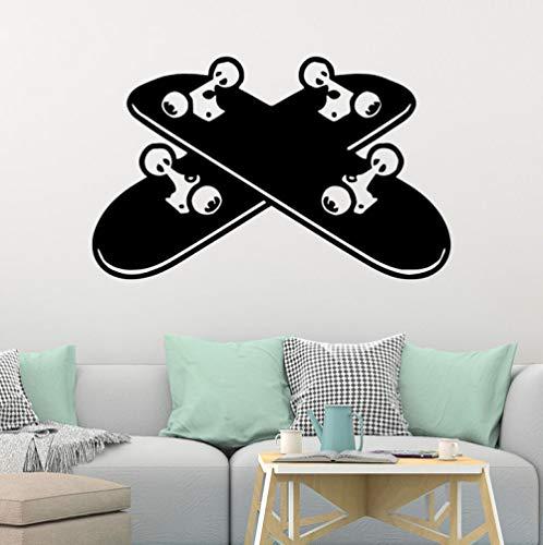 ZJfong 42x67 cm Skateboard Selbstklebende Vinyl Wasserdichte Wandkunst Aufkleber Für Kinderzimmer Kinderzimmer Dekor Wandbild