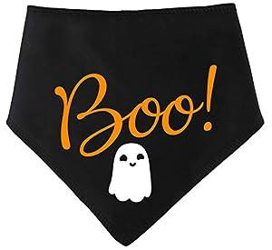 Spoilt Rotten Pets Dog Bandana–Halloween 'Boo Ghost' quatre Tailles disponibles pour Tiny Chihuahuas au Extra Large de Terre-neuve