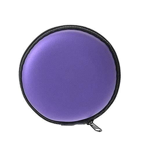 Mdsfe Mobile harde schijf opbergdoos bewaardoos oorschelp bewaardoos voor elektronische onderdelen - 8,3 x 3,5 cm lila
