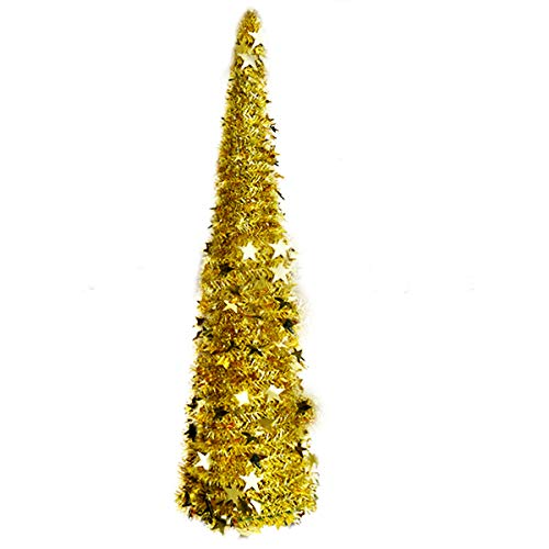 Vohoney - Árbol de Navidad artificial (150 cm, PVC, 150 cm), color dorado