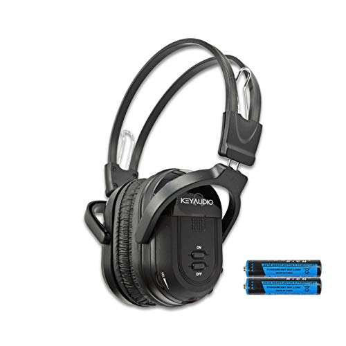Key Audio 1 Pack Wireless Two Channel Folding Universal Rear Entertainment System Infrared Headphone IR DVD Player Head Phones for in Car TV Video Audio Listening