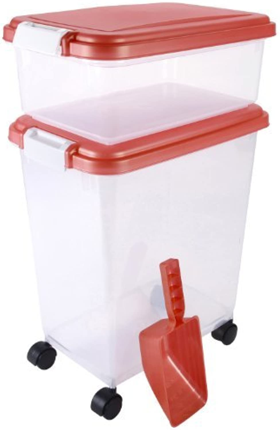 IRIS Airtight Combo Food Storage Container Set, Coral by IRIS USA, Inc.