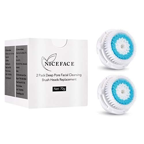 Rechoo profonda dei pori pulizia del viso testine di ricambio per Mia 1, MIA2, MIA3 (aria), Smart Profile, ALPHA Fit, Pro, Plus e Radiance Cleansing Systems (Deep Pore Cleansing) (Deep Pore Cleansing)