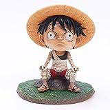 YOUME One Piece Q Edition Childhood GK Vendaje Luffy Ace Saab Anime Hecho a mano Coche Hecho a mano Decoración Hecho a mano Ajedrez Rey Personaje de dibujos animados Modelo Regalo de cumpleaños Regalo