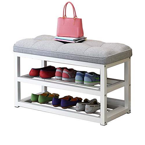 Comfortabele Home 2-Story schoenenkast, metalen schoenenrek voor 8 paar schoenen, kussen 80X30X50Cm