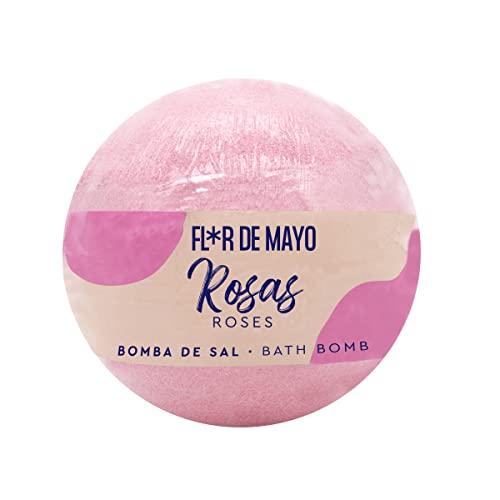 FLOR DE MAYO bombas de sal efervescentes rosas pastilla 250 gr
