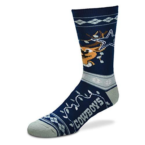 For Bare Feet - NFL Dallas Cowboys Sweater Stripe Socks (Large Size)