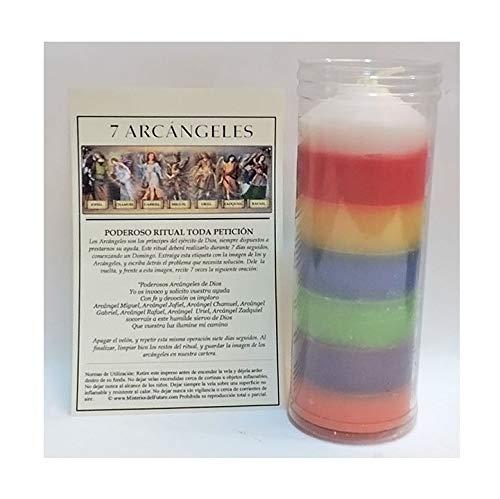 Valmoni Sport Velón 7 Arcángeles Siete Colores 7 Aromas 7 Días 7 Noches Vela Ritual Petición Poderoso Pedir Invocar Arcángel 7 Potencias