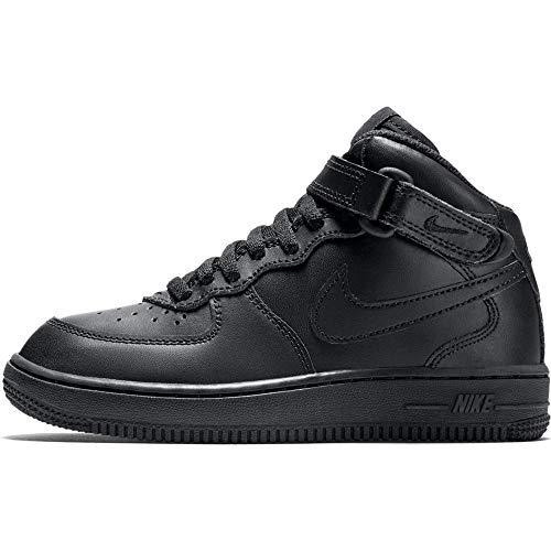Nike Force 1 Mid (Ps) chłopięce buty do koszykówki, czarny - Schwarz Black Black 004-28 EU