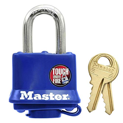 Master Lock - 312EURD - hangslot van gelamineerd staal met thermoplast coating 40 mm