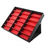 Dioche - Caja para guardar gafas, con proteccin antipolvo para 18 cajas multifuncionales para gafas 47 x 37 x 6 cm