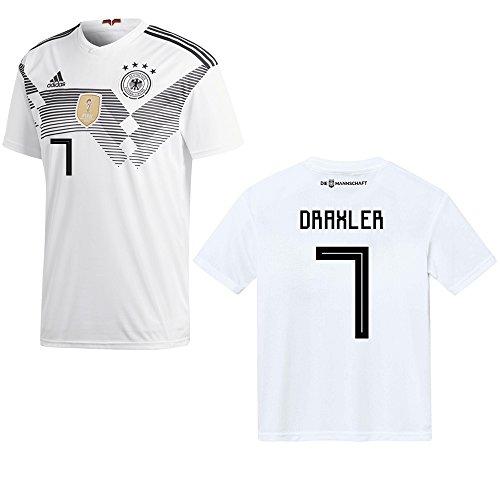 adidas DFB DEUTSCHLAND Trikot Home Kinder WM 2018 - DRAXLER 7, Größe:140