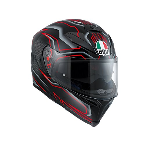 AGV Casco Moto K-5 S E2205 Multi PLK, Deep Black/White/Red, L