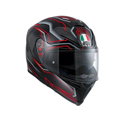 AGV Casco Moto K-5 S E2205 Multi PLK, Deep Black/White/Red, XL