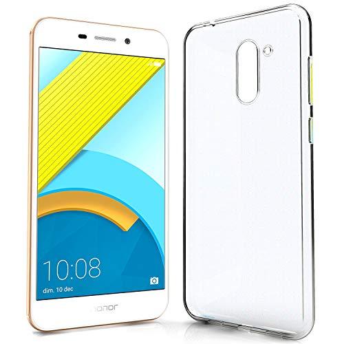 N NEWTOP Funda protectora compatible con Huawei Honor 6C Pro, suave TPU Clear Gel Silicona Antiarañazos Transparente Slim Flexible Case Trasera Protectora