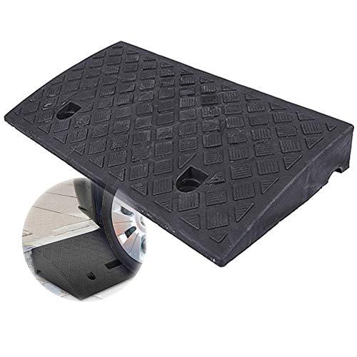 Rampa Goma Acabado Antideslizante, Portátil Utilizado en Sillas de Ruedas, Scooters, Motocicletas y Automóviles, los 50x27x7cm (Color : Black)