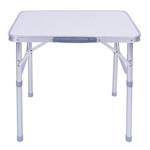 EBTOOLS Falttisch, Aluminium Verstellbarer Klapptisch Campingtisch Picknicktisch Koffertisch für Camping Picknick Marktständen, 60,2 x 45 x 25-56 cm