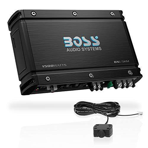 BOSS Audio OX1.5KM Monoblock Car Amplifier – 5000 Watts, 2/4 Ohm Stable, Full Range Class A/B, MOSFET Power Supply