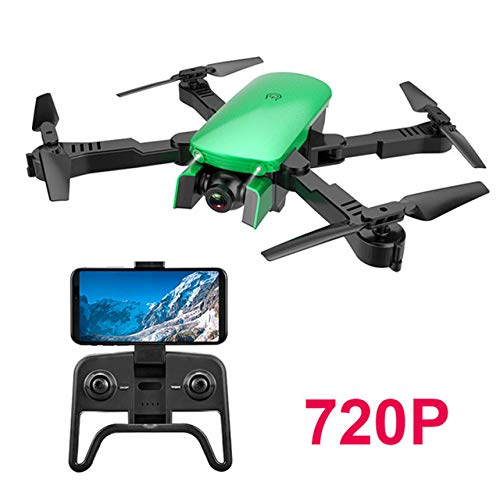 WXGZS Drone, 4K HD Antenne Kamera Quadcopter Optischer Fluss Hover-Smart Folgt Dual-Kamera Hubschrauber-Drohne Echtzeit-Übertragung,Grün,720P