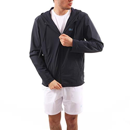 Sportkind Jungen & Herren Tennis, Running, Sport Trainingsjacke mit Kapuze, navy blau, Gr. 146