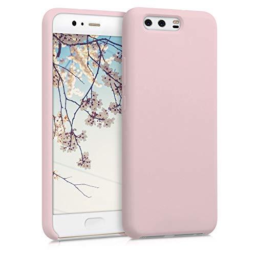 kwmobile Funda Compatible con Huawei P10 - Carcasa de TPU para móvil - Cover Trasero en Rosa Oro Mate