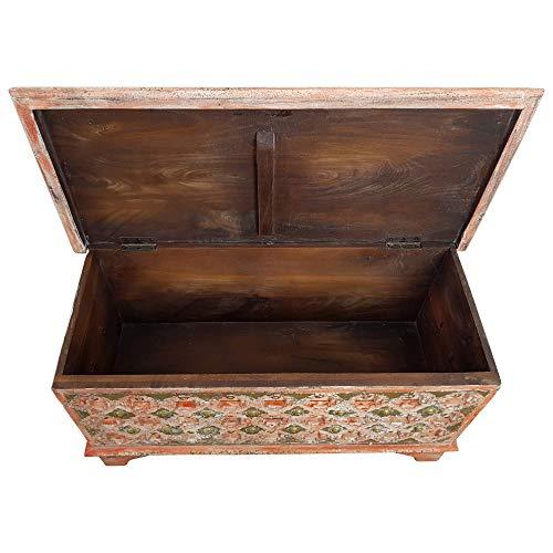 Indoortrend.com Truhe Kiste Holztruhe Box 90 Vintage Rot Shabby Chic aus Handarbeit Unikat 2 - 3