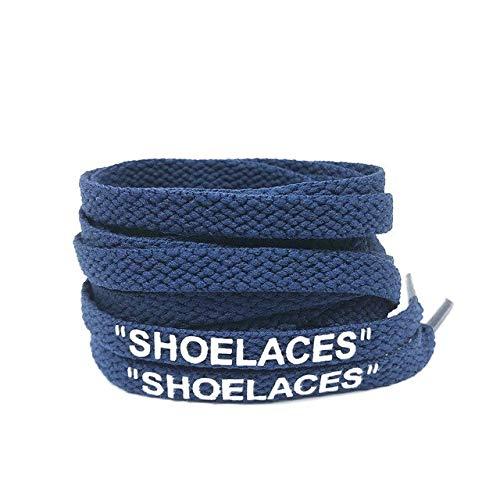 Cordones para zapatos 47'/55'/63' Silicona Impreso 'Cordones de Zapatos' Cordones planos para botas de moda cordones para zapatillas, color, talla 160 cm