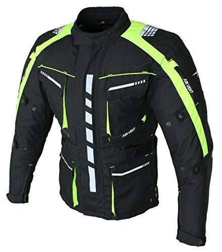 Motorradjacke Herren Textil mit Protektoren, Wasserabweisend, Winddicht, Biker Custom, Touring, Quad, Sport und Freizeit Jacke Floracent (Floracent, x_l)