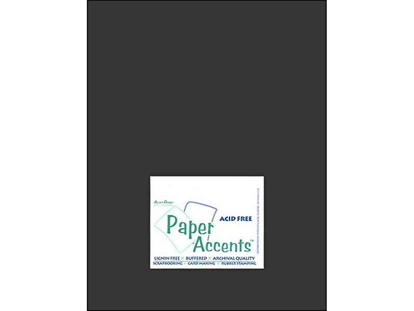 Accent Design Paper Accents Cdstk Muslin 8.5x11 80# Midnight