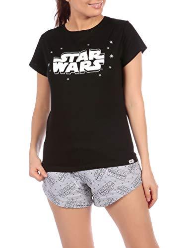 Star Wars Pijama para Mujer Guerra de Las Galaxias Negro