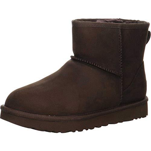 UGG Female Classic Mini Leather Classic Boot, Chocolate, 9 (UK)