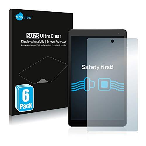 Savvies 6X Schutzfolie kompatibel mit Alcatel Pixi 4 Bildschirmschutz-Folie Ultra-transparent