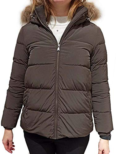 DOLOMITE Plumífero Stria 2WJ para mujer, con capucha, color marrón oscuro, talla 42(S) Z1/08 marrón S