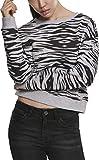 Urban Classics Pullover Ladies All-Over-Print Short Sweater Crewneck Sudadera, Gris (Grey Tiger 02360), X-Large para Mujer