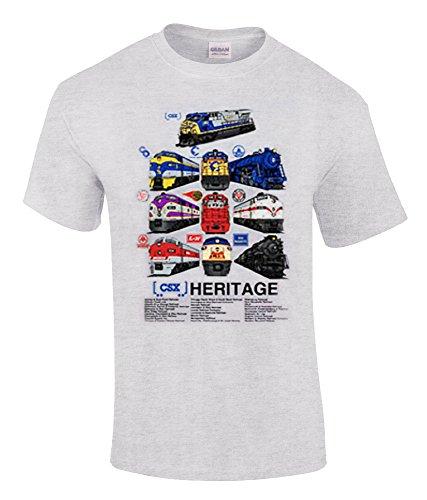 Daylight Sales CSX Heritage Authentic Railroad T-Shirt [109] (Adult, Medium)