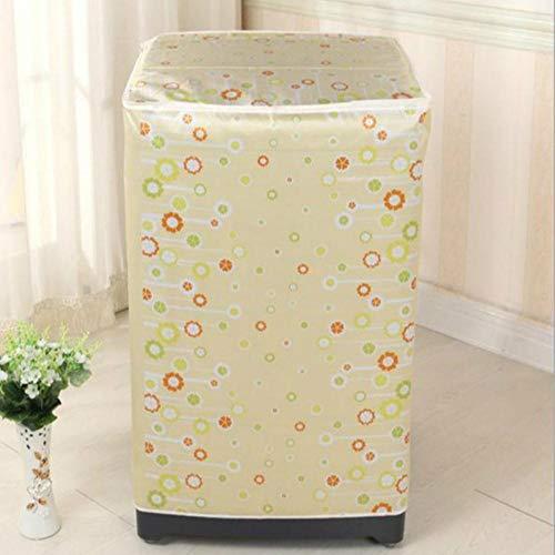 Qingsb 1 Stuks Voorlader Wasmachine PVC Stofdichte Cover Waterdichte Case Wasmachine Beschermende Stofomslag 60 * 55 * 85cm, 11