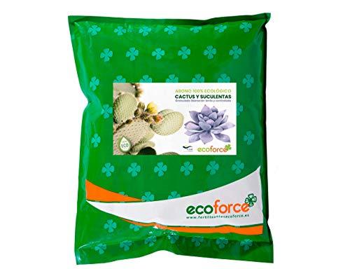 CULTIVERS ECO10F00176 Abono Especial Cactus Plantas Crasas y Suculentas de 5 kg. Fertilizante Ecológico de liberación Lenta y controlada. Origen 100% Orgánico y Vegano