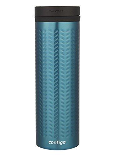 Contigo Vaccum-Insulated Stainless Steel TwistSeal Glaze Travel Mug, 20 oz, Biscay Bay