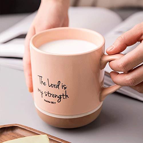 Rghfn Nordic Rosa Capacidad Taza Grande, Simple, pequeño y Fresca, Potable doméstica Copa, Mujer Taza de cerámica del café, Adecuado for el café, té, Cacao, Leche (Color : UN)