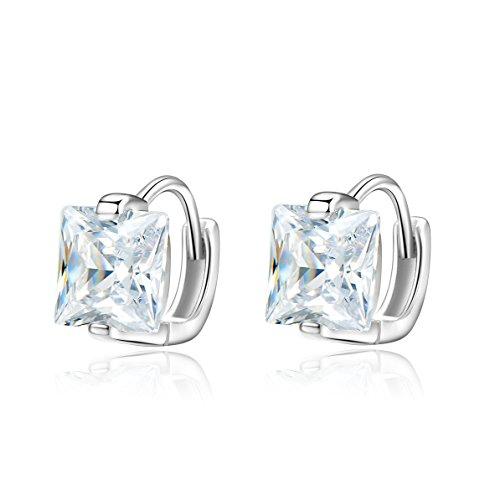 925 Sterling Silver Cubic Zirconia Hinged Huggie Hoop Earrings Mini Hoops For Men Women