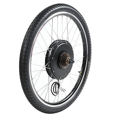 SALUTUYA Kit de conversión de Motor de Bicicleta eléctrica, Adecuado para Ruedas de 26 Pulgadas(Rear Drive with flywheel)