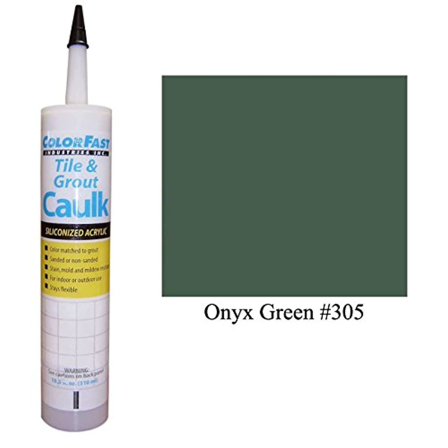 Color Fast Caulk Matched to Custom Building Products (Onyx Green Sanded)