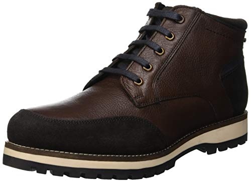 Lumberjack Roman, Stivaletto a Collo Alto Uomo, Marrone (Dk Brown Ce002), 41 EU