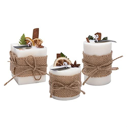 Mnwan Caja de Regalo de Vela perfumada (3 Paquetes) Velas perfumadas de Soja para aromaterapia, baño, Yoga, Muy Adecuado para cumpleaños, día de la Madre, día de San Valentín