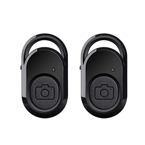 AMATHINGS 2 Stück Kamera-Auslöser EIN-Knopf Fernbedienung mit Bluetooth-Technologie Fernauslöser für Smartphones und Tablets (iOS und Android) one Button