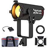 Aputure LS 60X 60W LED Video Light Color Temperature 2700K-6500K CRI 95+ TLCI 95+ 30000lux @ 1m App Control 9 Types FX Lighting Effect Stepless Adjustable for Shooting Lighting with Barn Door
