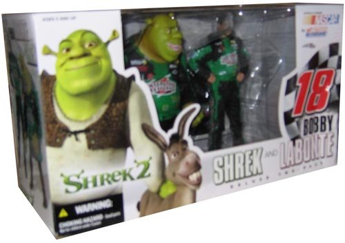 Mcfarlane Nascar Bobby Labonte & Shrek Action Figure Set