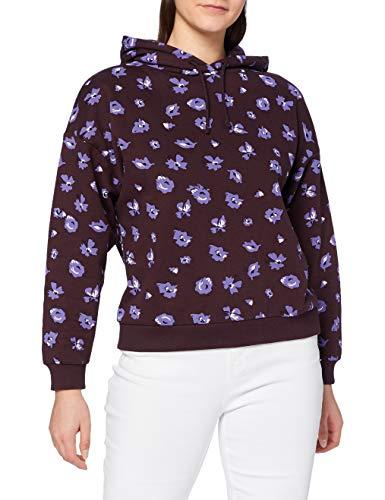 edc by ESPRIT Damen 110CC1J308 Sweatshirts, 515/AUBERGINE, XS