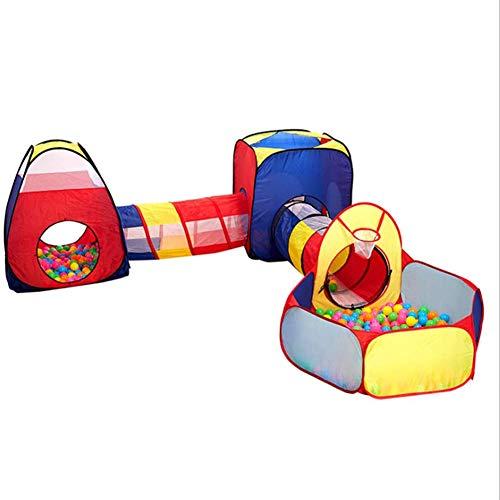 MROSW Kindertunnelzelt Fünfer Cast Basketball Pool-Kanal Ozean Innen- und Außen Krabbeln Folding Game House Five in One
