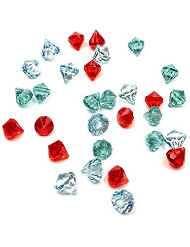 Party Pro 333125 - Juego de 30 piedras preciosas (3 colores, varios colores)